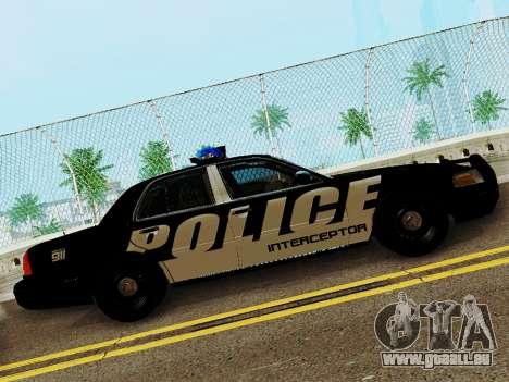 Ford Crown Victoria Police Interceptor 2011 pour GTA San Andreas laissé vue