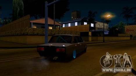 VAZ 2107 Bekämpfung Classics für GTA San Andreas zurück linke Ansicht