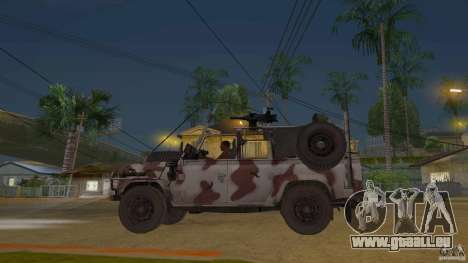 Land Rover WMIK pour GTA San Andreas laissé vue