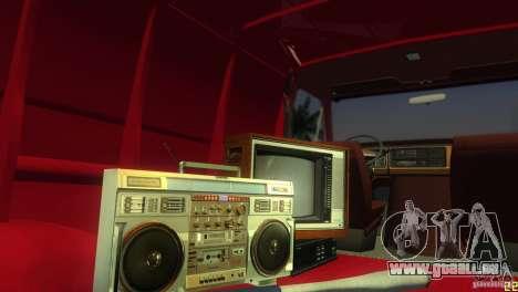 Ford E-150 Gang Burrito pour une vue GTA Vice City de l'intérieur