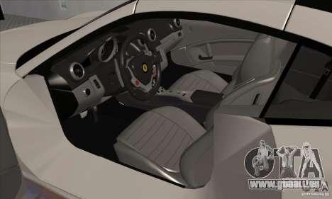 Ferrari California Hamann für GTA San Andreas Rückansicht