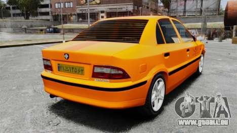 Iran Khodro Samand LX Taxi pour GTA 4 Vue arrière de la gauche