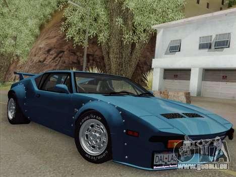 De Tomaso Pantera GT4 für GTA San Andreas zurück linke Ansicht
