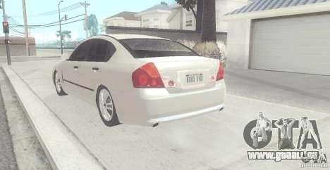 Infiniti M35 pour GTA San Andreas sur la vue arrière gauche