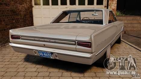 Dodge Coronet 1967 pour GTA 4 Vue arrière de la gauche