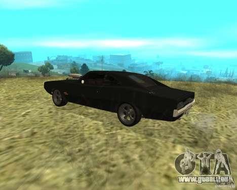 Dodge Charger R/T 1970 für GTA San Andreas zurück linke Ansicht