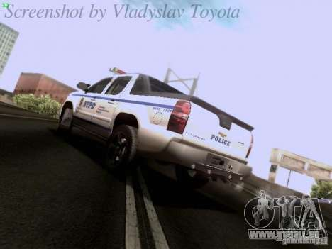 Chevrolet Avalanche 2007 pour GTA San Andreas laissé vue