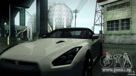 Nissan GT-R35 v1 pour GTA San Andreas sur la vue arrière gauche