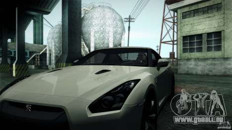 Nissan GT-R35 v1 für GTA San Andreas zurück linke Ansicht