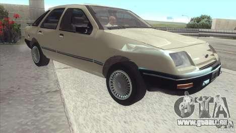 Ford Sierra pour GTA San Andreas sur la vue arrière gauche