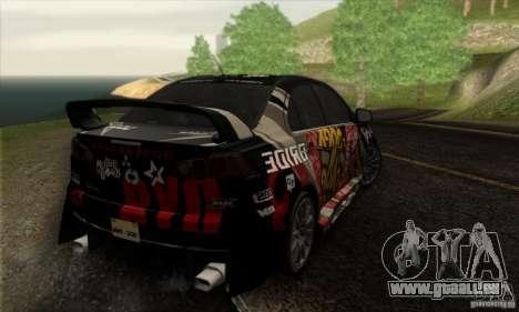 Mitsubishi Lancer Evolution X 2008 pour GTA San Andreas moteur