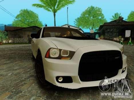 Dodge Charger SRT8 2012 für GTA San Andreas Rückansicht