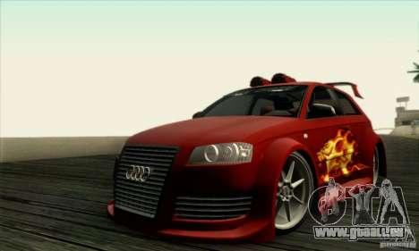 Audi A3 Tunable für GTA San Andreas Rückansicht