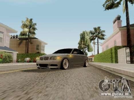BMW 135i für GTA San Andreas Rückansicht