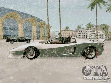 Ferrari Testarossa Custom pour GTA San Andreas sur la vue arrière gauche