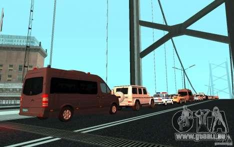 Le cortège présidentiel v. 1.2 pour GTA San Andreas troisième écran