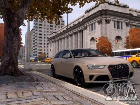 Audi RS4 Avant 2013 für GTA 4 Seitenansicht