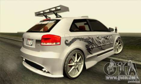 Audi A3 Tunable für GTA San Andreas Innen