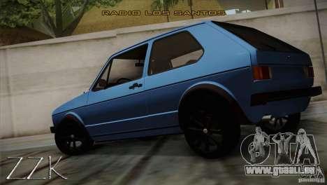 Volkswagen Golf MK1 pour GTA San Andreas laissé vue
