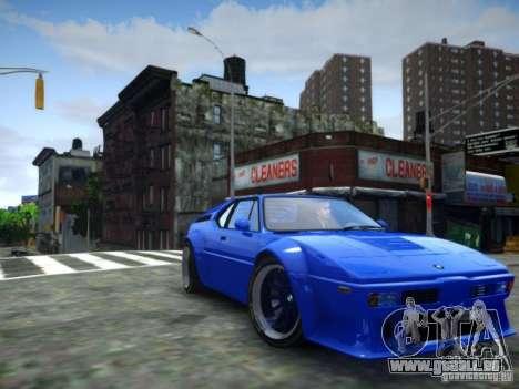 BMW M1 Replica für GTA 4 hinten links Ansicht