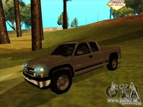 Chevrolet Silverado 2006 4x4 pour GTA San Andreas laissé vue