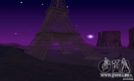 La tour Eiffel depuis Call of Duty : Modern Warf pour GTA San Andreas sixième écran