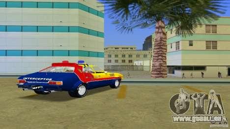 Ford Falcon 351 GT Interceptor pour une vue GTA Vice City de l'intérieur