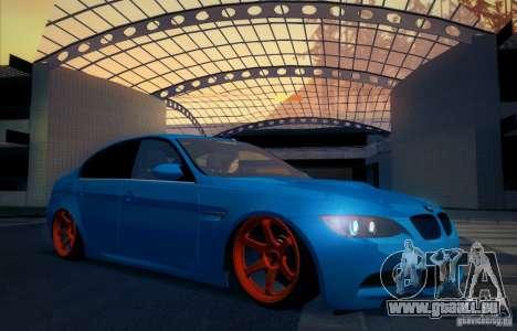 BMW M3 E90 pour GTA San Andreas vue de dessous