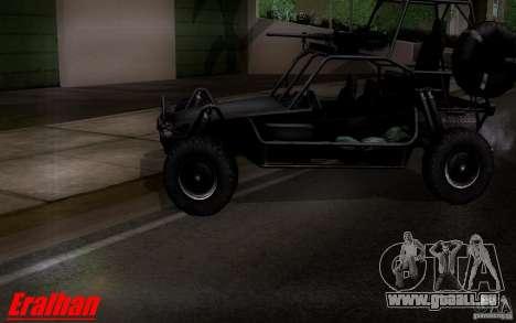 Desert Patrol Vehicle pour GTA San Andreas sur la vue arrière gauche