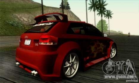 Audi A3 Tunable pour GTA San Andreas vue intérieure