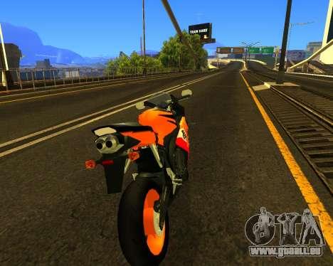 HONDA CBR 1000RR Repsol für GTA San Andreas obere Ansicht