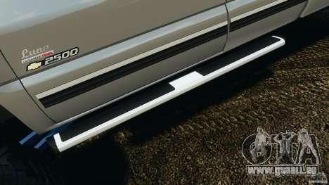 Chevrolet Silverado 2500 Lifted Edition 2000 pour GTA 4 roues