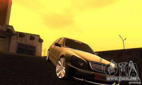 Mercedes-Benz S600 W200 für GTA San Andreas Rückansicht