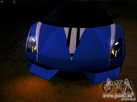 Lamborghini Gallardo LP570-4 Spyder Performante für GTA San Andreas Rückansicht