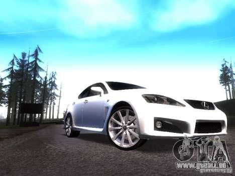 Lexus IS F für GTA San Andreas linke Ansicht
