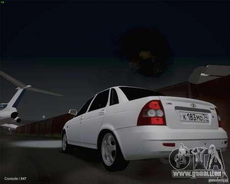 Lada 2170 für GTA San Andreas Rückansicht