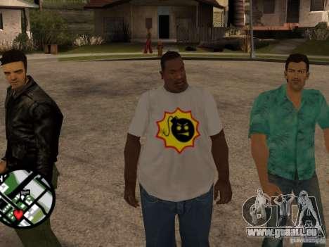 Nouveau t-shirt pour GTA San Andreas deuxième écran