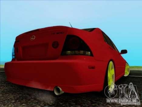 Lexus IS300 Edit für GTA San Andreas zurück linke Ansicht