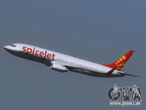 Boeing 737-8F2 Spicejet pour GTA San Andreas vue de dessus