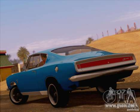 Plymouth Barracuda 1968 für GTA San Andreas zurück linke Ansicht