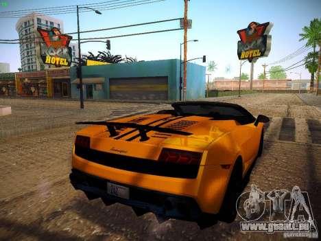 Lamborghini Gallardo LP570-4 Spyder Performante für GTA San Andreas zurück linke Ansicht