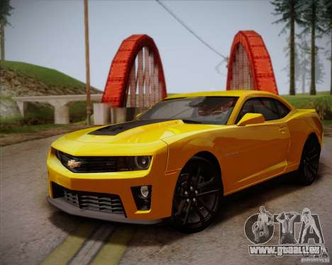 Chevrolet Camaro ZL1 v2.0 pour GTA San Andreas