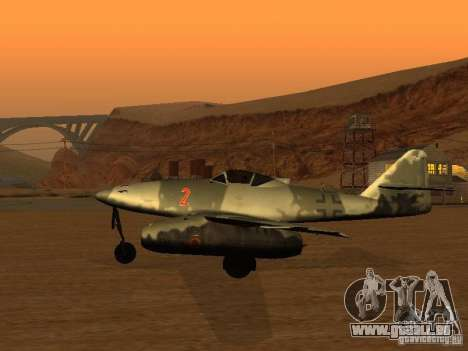 Messerschmitt Me262 für GTA San Andreas linke Ansicht