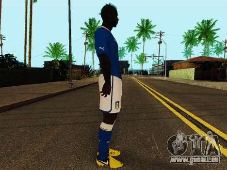 Mario Balotelli v4 pour GTA San Andreas deuxième écran