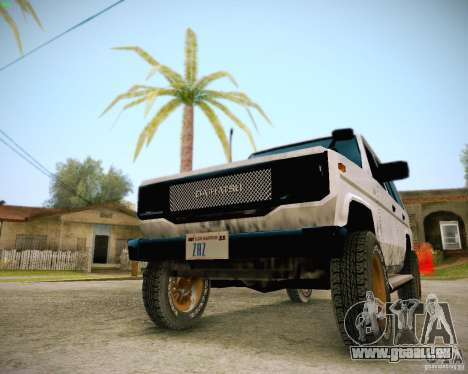 Daihatsu Taft Hiline Long pour GTA San Andreas vue intérieure