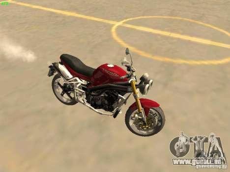 Bike Triumph für GTA San Andreas zurück linke Ansicht
