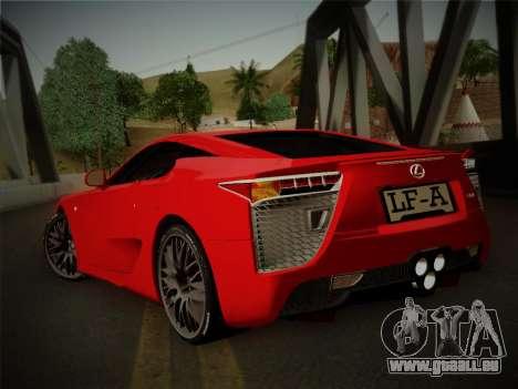 Lexus LFA Nürburgring Edition pour GTA San Andreas laissé vue
