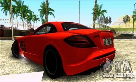 Mercedes Mclaren SLR 722 für GTA San Andreas linke Ansicht