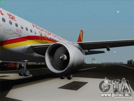 Airbus A320-214 Hong Kong Airlines für GTA San Andreas linke Ansicht