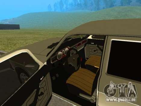 GAZ-24 Volga 12 für GTA San Andreas Rückansicht